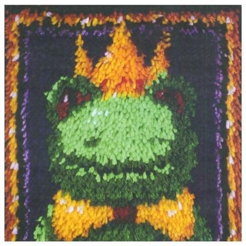 Caron WonderArt 12x12 Latch Hook Kit Frog Prince