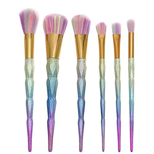 Kabuki Makeup Brushes Cosmetic Tool Kit Eyeshadow Powder Brush Set Gift (Colour - 6PCS Multicolor) -