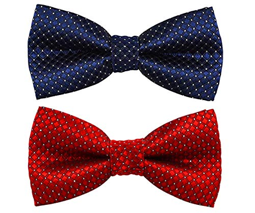 - Wemet Cute Dog Cat Bow Tie Collar, Adjustable Bowtie Neck Tie Polka Dots Pets Gift for Medium and Large Dogs Cats (2 Packs, Polka dot-01)