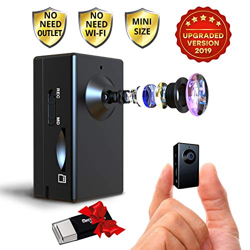 Spy Camera no Wi-Fi Needed - Hidden Camera Motion Activated - Mini Body Camera - Nanny Hidden Small Cam - Tiny Spy Hidden Camera - Spy Hidden Cameras for Home - Easy to Use Portable Hidden Recorder