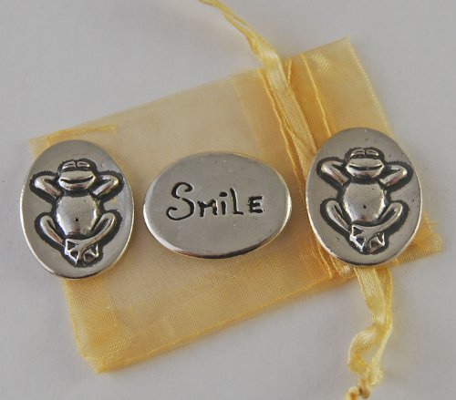 Set of 3 Frog Smile Inspiration Coins with Organza Bag