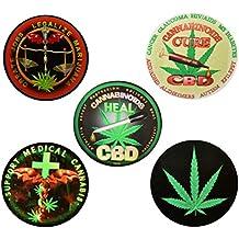 "Medical Cannabis Vinyl Stickers Pack-5 3"" Assortment(1 bundle)"