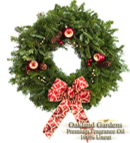 BULK Fragrance Oil - CHRISTMAS WREATH Fragrance Oil - Scent of Christmas Wreath, a vibrant, green, herbal based aroma with crisp pine and spruce top notes - By Oakland Gardens (120 mL - 4.0 fl oz Bottle) ()
