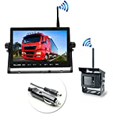 Wireless Backup Camera for Truck, 170° Wide Angle Car Rear View Digital Camera, for RV, Truck, Trailer, Vans, Camper, Caravan, Tractor, Bus