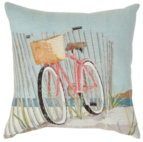 Nantucket Throw Pillow (Brentwood Nantucket Bike Decorative Pillow One Size)