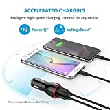 Anker Car Charger 24W / 4.8A Dual USB Travel Car Charger PowerDrive 2 for iPhone 7/ 6 / 6 Plus/ 6s / 6s Plus, iPad Pro / Air 2 / mini 3, Samsung Galaxy Note Series, S Series & Edge Models; LG G4 / G5; Google Nexus 5X 6P; and Other iOS and Android Devices (Black) Bild 3