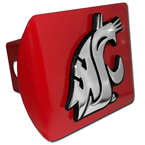 - Elektroplate Washington State Cougars Red Metal NCAA Trailer Hitch Cover Fits 2 Inch Auto Car Truck Receiver