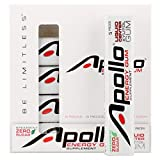 Apollo Energy Gum Supplement - Spearmint (5 packs of 5) | 25 pieces = 125 hours of energy