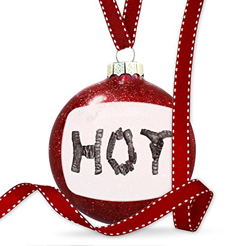 Christmas Decoration Hot Coal Grill Fire Place Ornament by NEONBLOND