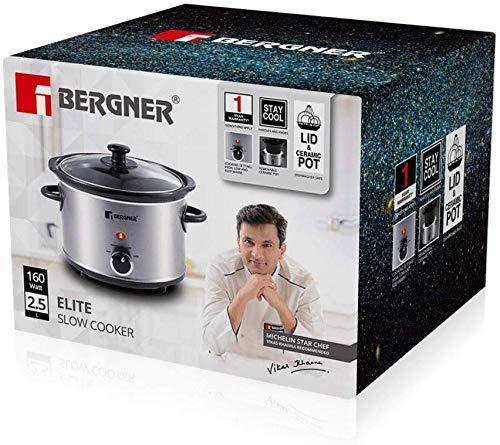 BERGNER-Elite-Stainless-Steel-Slow-Cooker-160W-25-Liter-Grey-BG-198