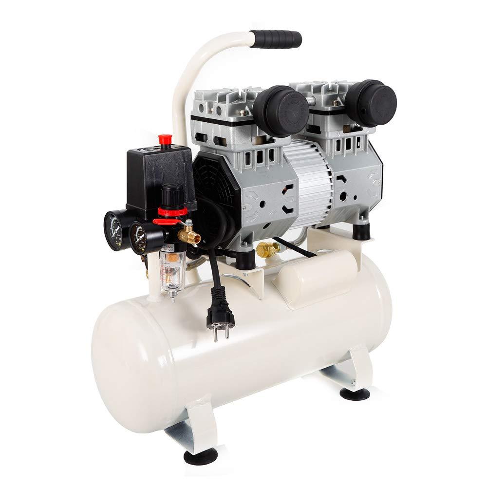 RANZIX 980W Silent Fl/üsterkompressor Druckluftkompressor leise /ölfrei fl/üster Kompressor Luftkompressor Druckluft 15L Kessel mit /Öl-Wasser-Abscheider und Manometer