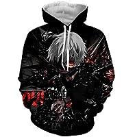 Cutelove Unisex Hoodies Tokyo Ghoul Ken Kaneki 3D Print Pullover Sportswear Sweatshirt Tops