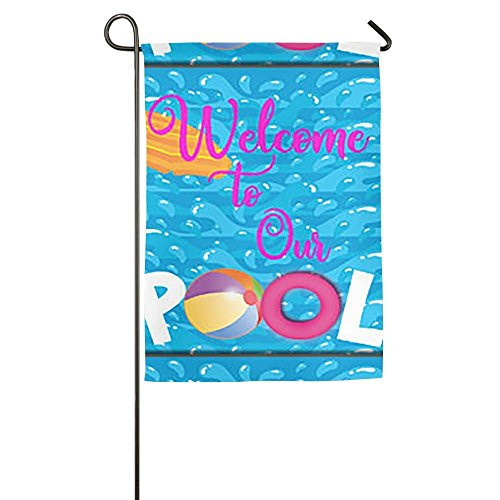 - Destiny'S Flag Personalized Garden Flag - Welcome to Our Pool Flag 12.5 x 18 Inches
