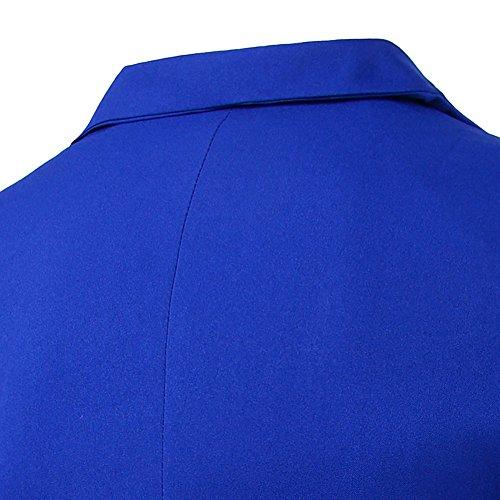Top Blazer Outwear Slim Giacca Elegante Coat Blu Reale Jacket Cappotti Uomo 4U0n8Y0