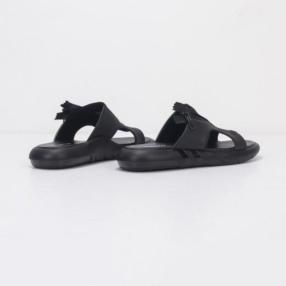 DALL Sandalen Ly-823 Mode Und Einfachheit Herrenschuhe Flache Flache Flache Sandalen Hausschuhe Strandschuhe Sommersaison Freizeit Sport (Farbe   Schwarz, größe   EU 40 UK 6.5 CN 40) 7ee214