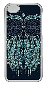 Shell Case for iphone 5C with Art Owl DIY Fashion PC Transparent Hard Skin Case for iphone 5C