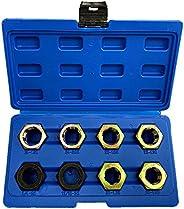 Lasamot Conjunto de 8 peças de rosca de eixo para restauração de roscas r-epair