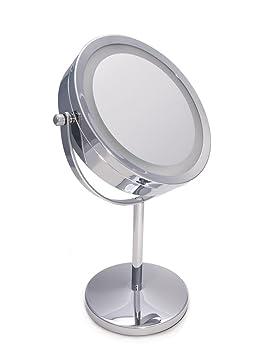 360 Grados de Rotaci/ón Ajustable Espejos Maquillaje con Luz Doble Cara con Aumento X1 X3 Airel Espejos Maquillaje Aumento Espejo con Luz Aumento