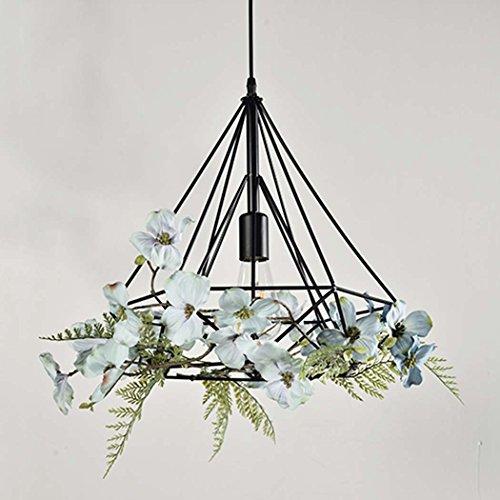GAOLIQIN Iron Pendant Lamp, Creative Personality Simulation Plant Art Pendant Light,Theme Concert Bar Window Restaurant Decoration Chandelier (Size : 40CM) by GAOLIQIN (Image #1)