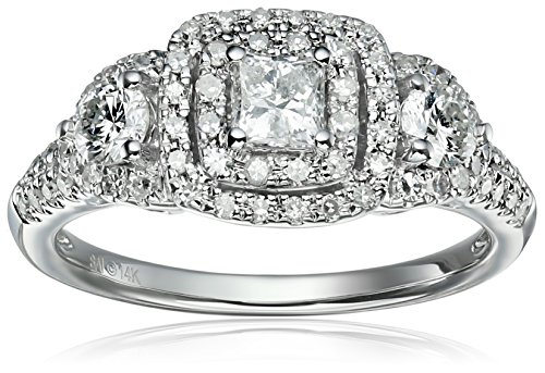 Diamond 3 Stone Princess Engagement Clarity