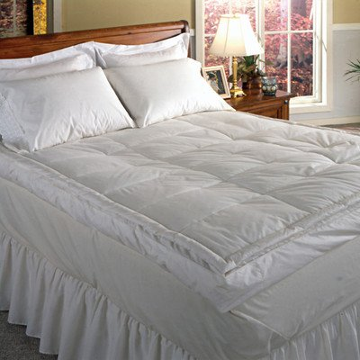 "Blue Ridge Home Fashion Luxury 5"" Down Pillowtop Featherbed,"