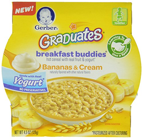 Gerber Graduates Breakfast Buddies Cereal, Banana Cream, 4.5 Ounce, 8 Count