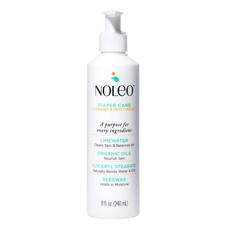 NOLEO All in One Organic Diaper Rash Preventive Cream Cleanser & Moisturizer, 8 Oz