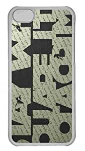 Customized iphone 5C PC Transparent Case - Typography 4 Personalized Cover