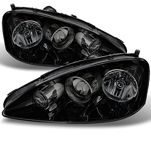 For 2005-2006 Acura RSX Integra DC5 Black Bezel Headlights Front Lamps Replacement Pair Left + Right Set