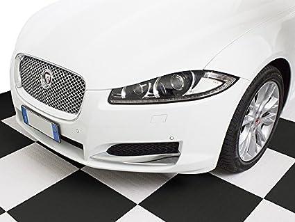 Pavimento piastrella flessibile nero pvc rivestimento officina auto