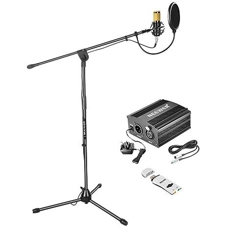 Neewer - Kit de micrófono de condensador NW-800: NW-800 micrófono ...