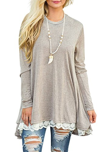 khaki blouse dress - 6