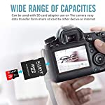 ALLBYT Micro SD Card 32GB Class 10 Micro SD Card with Adapter, TF Memory Card Compatible Smartphone, Tablets, DSLR and HD Camcorder (Black/Red) 10 ALLBYT Micro SDHC Class 10 UHS-1 Up to 95MB/s & 20MB/s read & write speeds respectively. Micro SD Cards High compatibility for different types of devices including smartphones, tablets, DSLR and HD camcorder. TF Card Come with a SD card adapter that enables versatile usages for any SD enabled devices.