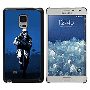 Caucho caso de Shell duro de la cubierta de accesorios de protección BY RAYDREAMMM - Samsung Galaxy Mega 5.8 9150 9152 - Winter Soldier