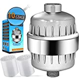 Kyпить CaptainEco 10-Stage Shower Filter with 2 Replacement Cartridges Universal Chrome на Amazon.com