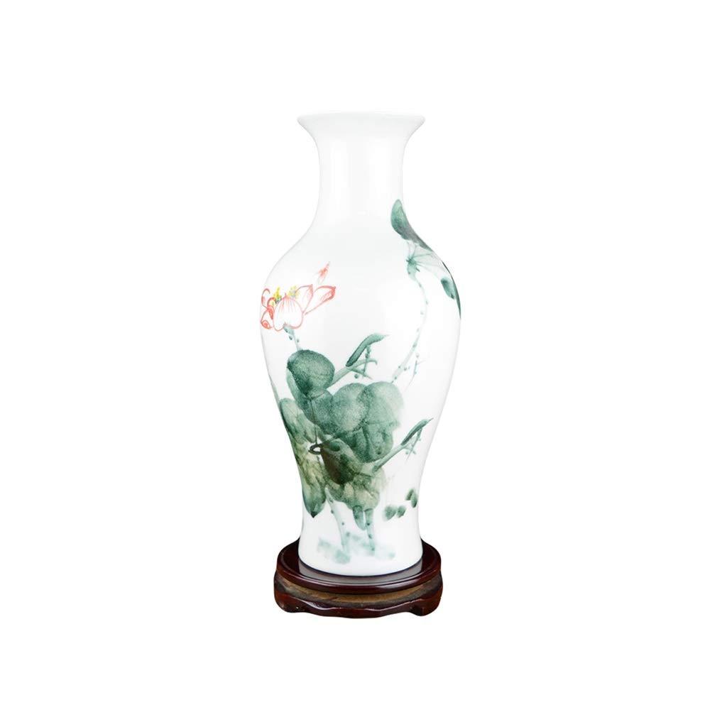 花瓶セラミック手描きパステル花瓶大中華スタイルのリビングルームフラワーアートデコレーションテーブルデコレーション LQX (Size : S) B07SMMR5RY  Small