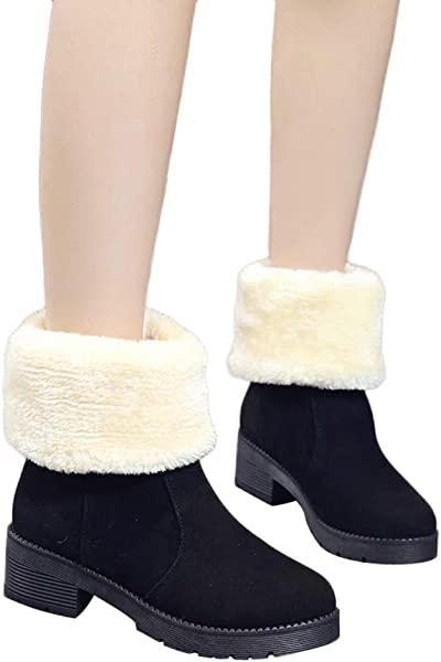 2b1eecb71d2 Amazon.com: Inkach Women's Girls Middle Tube Boots | Solid Color ...