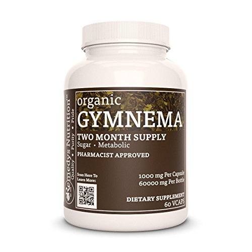 Gymnema Sylvestre Remedys Nutrition MEGA STRENGTH 1,000 mg per capsule/ 2000 mg daily/60,000 mg per bottle organicVegan VCaps