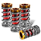 For Civic/CRX/Del Sol/Integra Aluminum Scaled Coilover Kit (Silver Springs Red Sleeves)