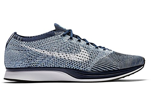 Nike Flyknit Racer Chaussures de Course 862713Sneakers Chaussures Blue Tint White 401