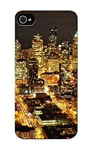 Rightcorner Case Cover Protector Specially Made For Iphone 5/5s Seale Washinn Usa Americanight Skyline Cityscapes Architecture Buildings Skyscrapers Lights