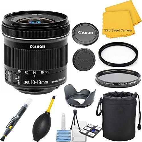 Canon EF-S 10-18mm f/4.5-5.6 IS STM 33rd Street Lens Bundle