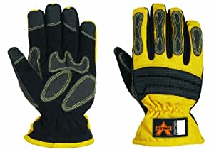 Valeo Kevlar Extrication Gloves With Nomex Flame Resistant Back and Cuff, And Schoeller Padded Palm, Thumb, And Finger Back Patches