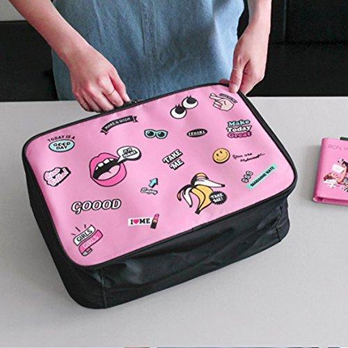 de de aviones de dibujos almacenamiento de libre bolsa embarque de ropa mujeres alta capacidad aire animados de Diseño viaje hombres al bolso encantador de gRFqnnT0