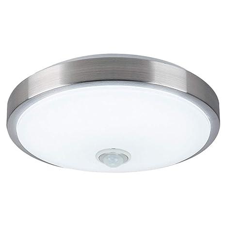 ZHMA Sensor de movimiento Sensor de cuerpo de lámpara de techo de 18 vatios, Lámpara de techo de montaje empotrado, Detección automática de ...