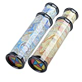 Lanlan Magical Rotating Kaleidoscope Variable Interior Scene Toys for Kids & Adults 12""