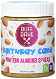 you bake - Buff Bake Protein Almond Spread Birthday Cake 13 oz Jar, (11g Protein Per Serving); Birthday Cake Almond Butter Gluten Free, Non GMO, Low Sugar, Healthy Fats & All Natural Almond Nut Butter
