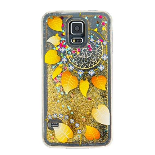 Para Samsung Galaxy S5/i9600móvil, 3d fließen líquido para trucha, arenas movedizas estrella Bling Lujo Shiny brillo Sparkle Cristal Crystal Multicolor de amor diseño Satisfacción Bolsa Funda Para Sa 7
