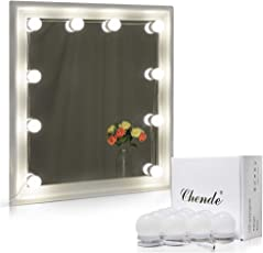 bathroom vanities lighting. Chende Hollywood Style LED Vanity Mirror Lights Kit With Dimmable Light Bulbs, Lighting Fixture Strip Bathroom Vanities