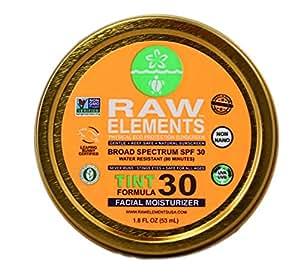 Raw Elements: Tinted Facial Moisturizer Broad Spectrum, Water Resitant SPF 30+, 1.8 oz